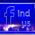 Acrylic LED Facebook Sign