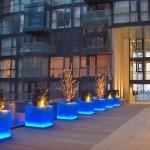 Exterior LED Planters